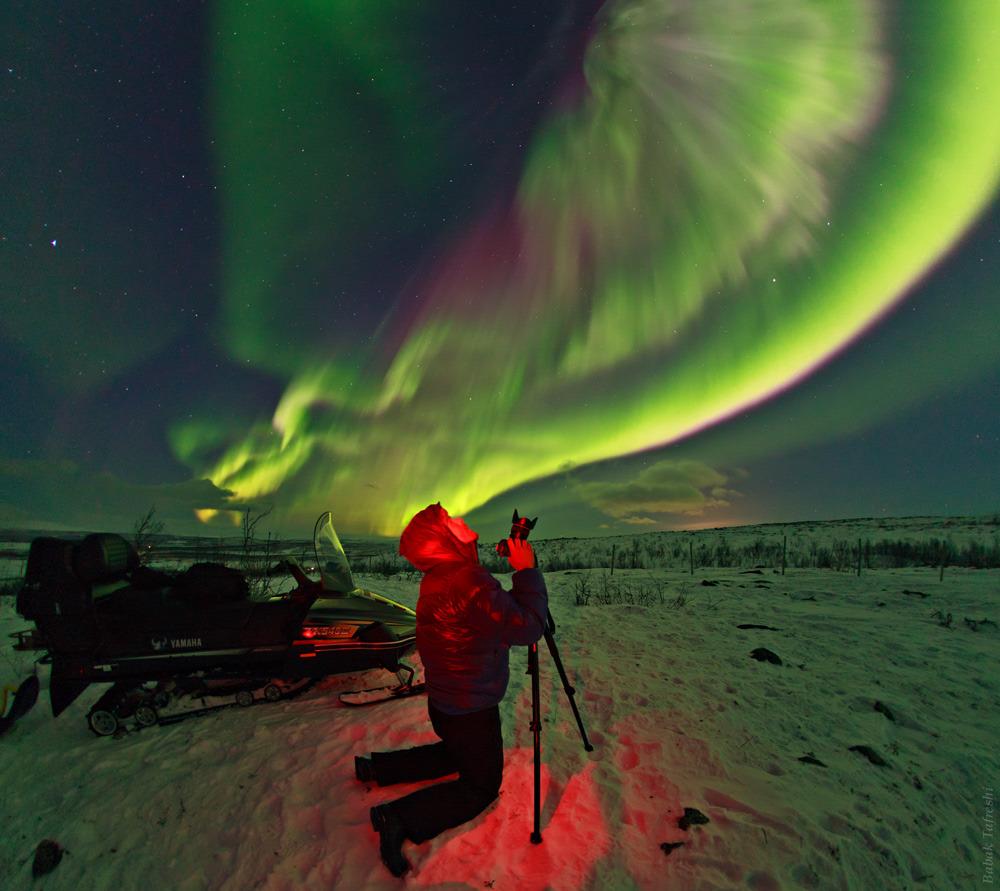 luci nordiche nella Lapponia svedese