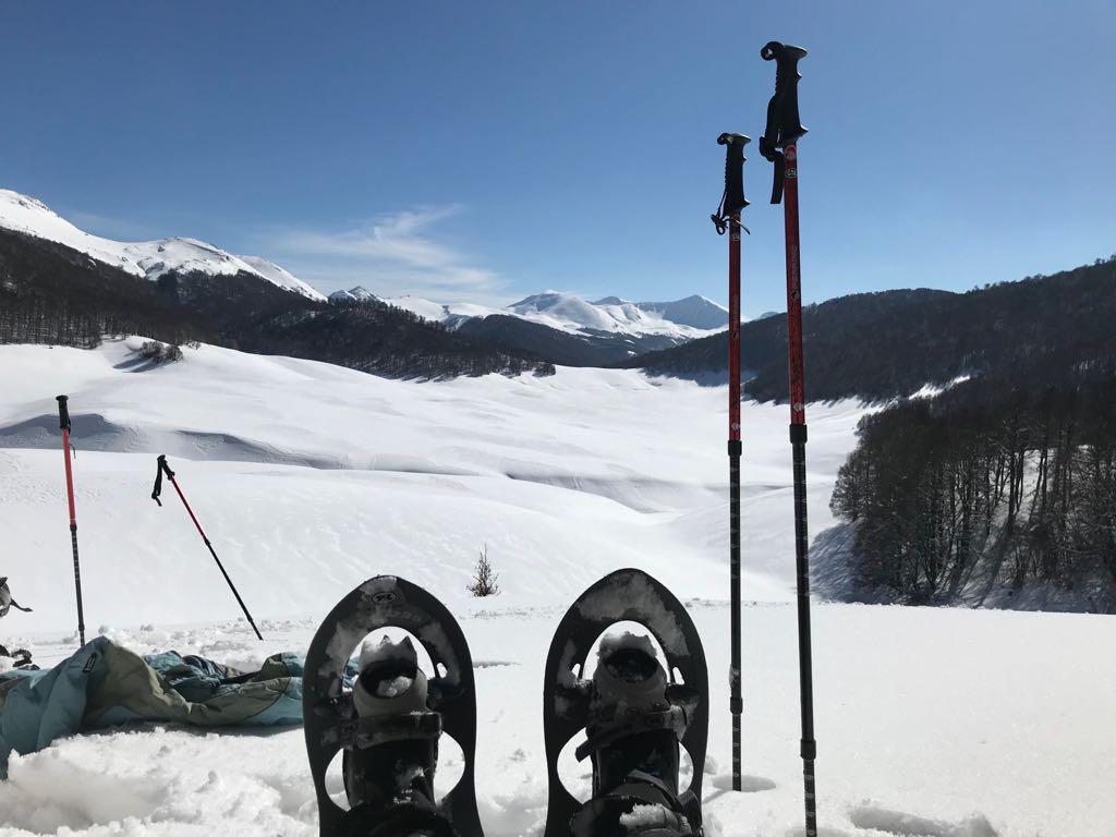 ciaspole per trekking sulla neve