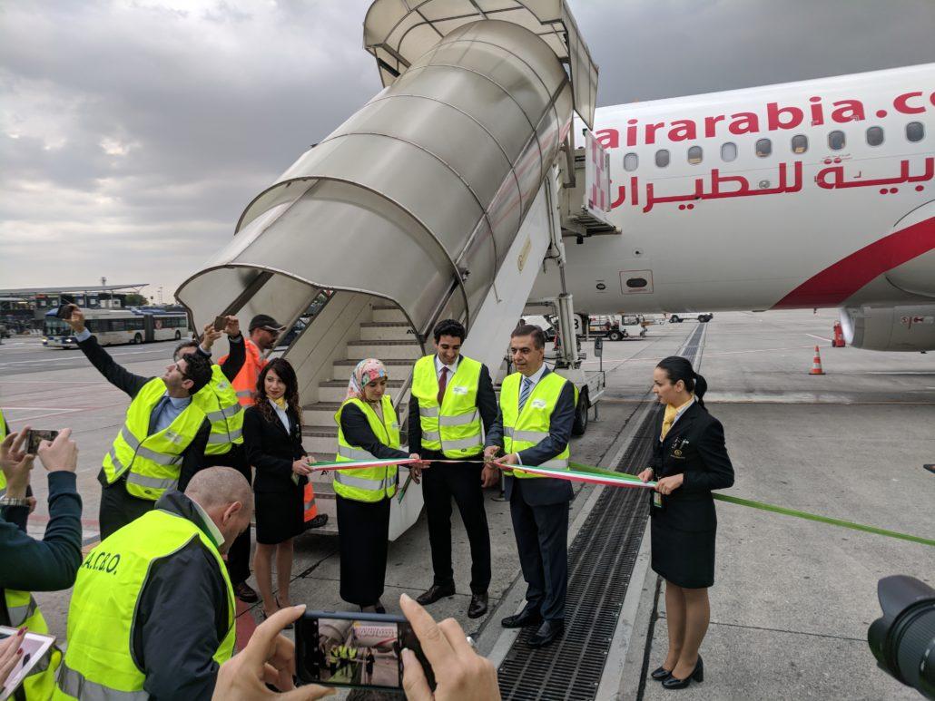 Inaugurazione volo Air Arabia