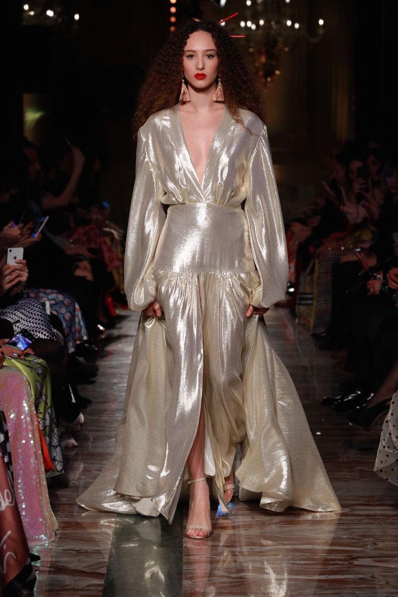 Abito oro glamour Giada Curti