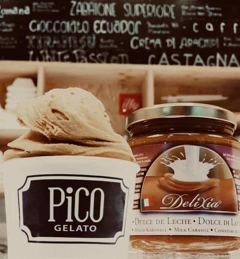 Dulce de leche Pico gelato