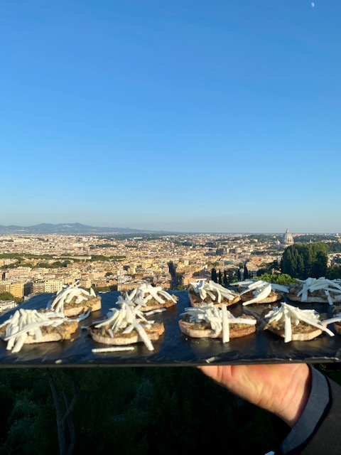Aperitivo da Vista 101 Rome Cavalieri I viaggi di Bibi