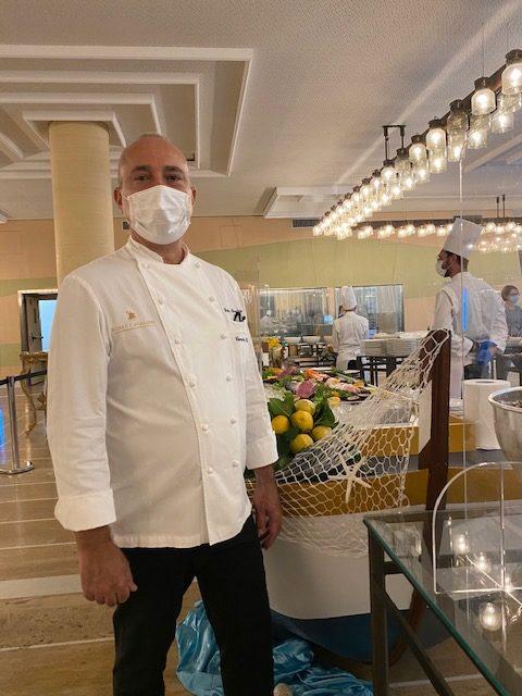 L'executive chef Fabio Boschero